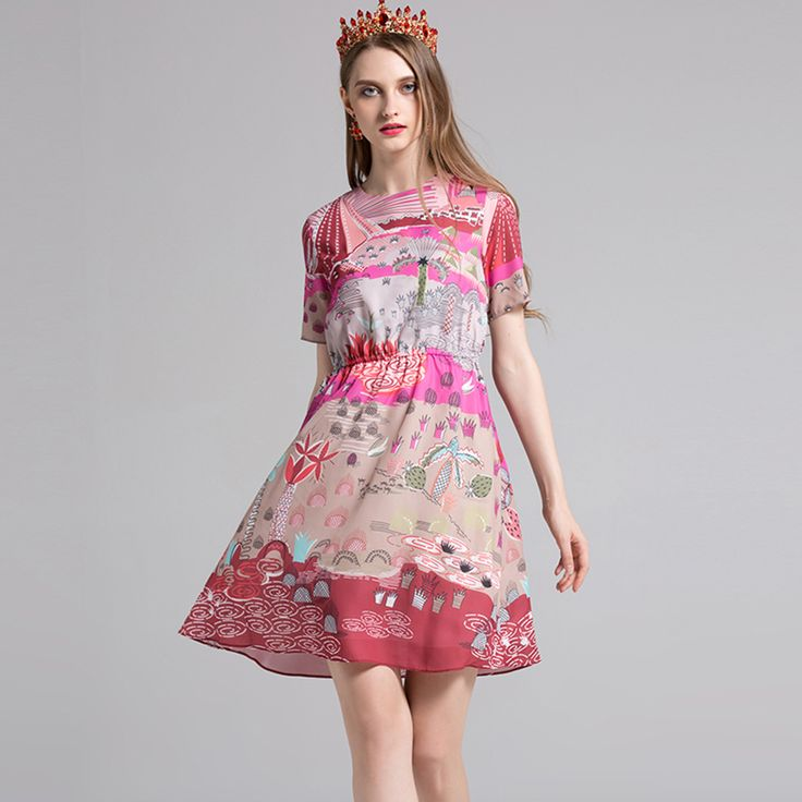 ==> [Free Shipping] Buy Best Bohemian Mini Dresses Summer 2017 Beach Fresh Short Sleeve Fashion Patchwork Print Free Shipping Slim Beach Ladies Dress Online with LOWEST Price   32816641832