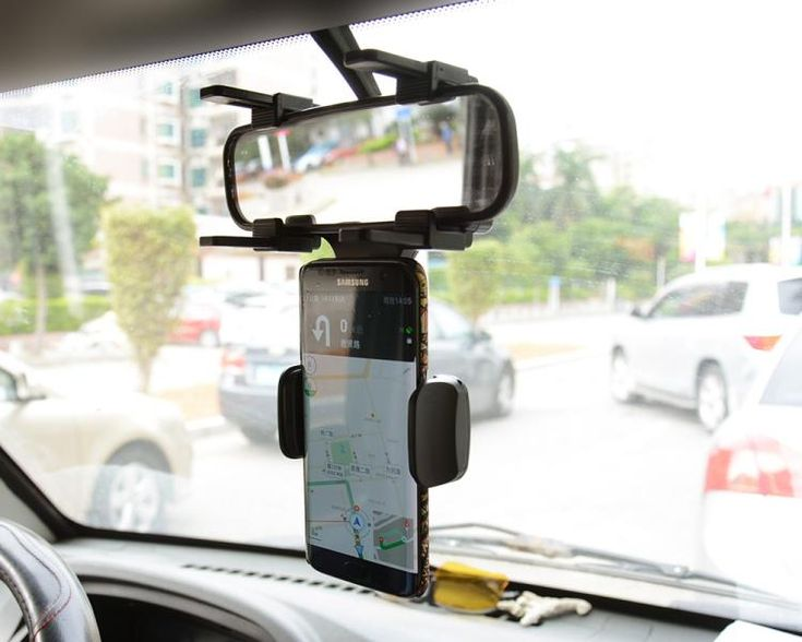 Rotary Car rearview mirror Mounts Mobile Phone Car Holders Stands For Asus Zenfone Live ZB501KL,Zenfone 3 Go,vivo Y55s