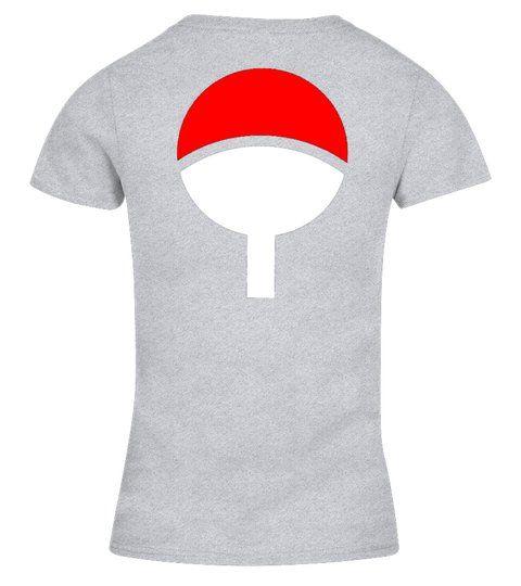 NARUTO STORE BACK UCHIHA CLAN V neck T Shirt Woman