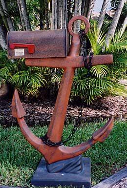 Salvaged Anchor Mailbox