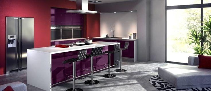 Les 25 meilleures id es de la cat gorie cuisine violet sur pinterest d cor de cuisine violet for Credence violette