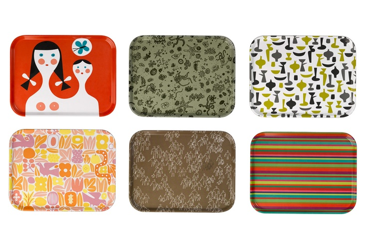 Classic Trays designed by Charles eames, Alexander Girard and George Nelson