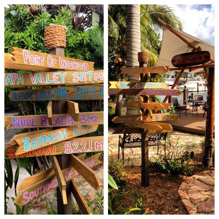 Custom Tropical / Tiki / Beach / Wedding /Christmas Directional Arrow Sign  Handpainted.
