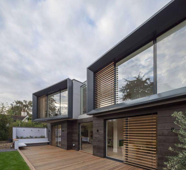 Design Ideas For Exteriorhouse Lighting:  Pingl Par At-architectures Sur Architecture Domestique