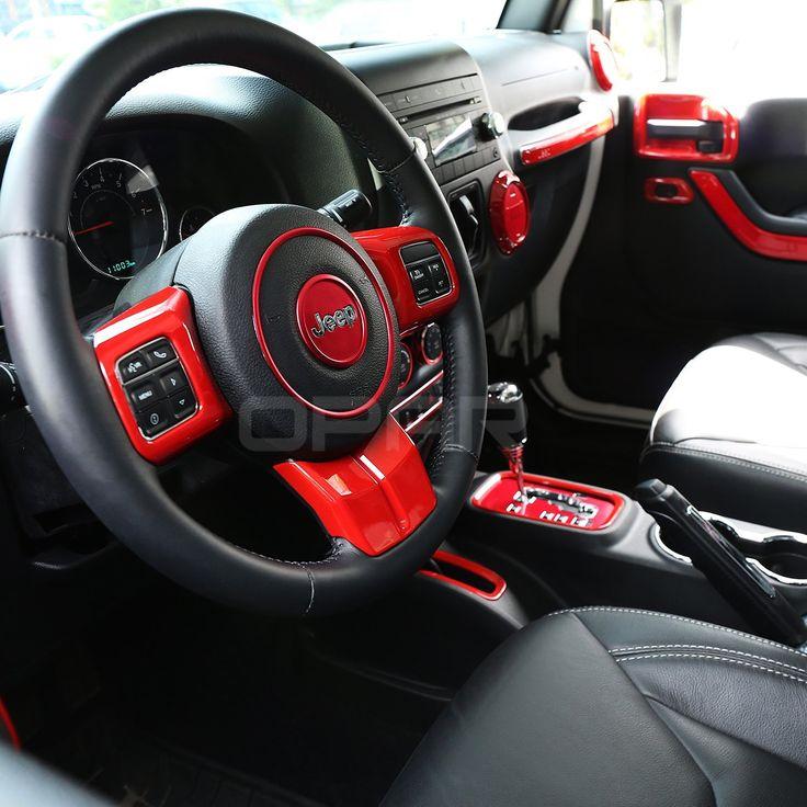 Opar 3pcs Set Red Steering Wheel Cover Trim For 2011