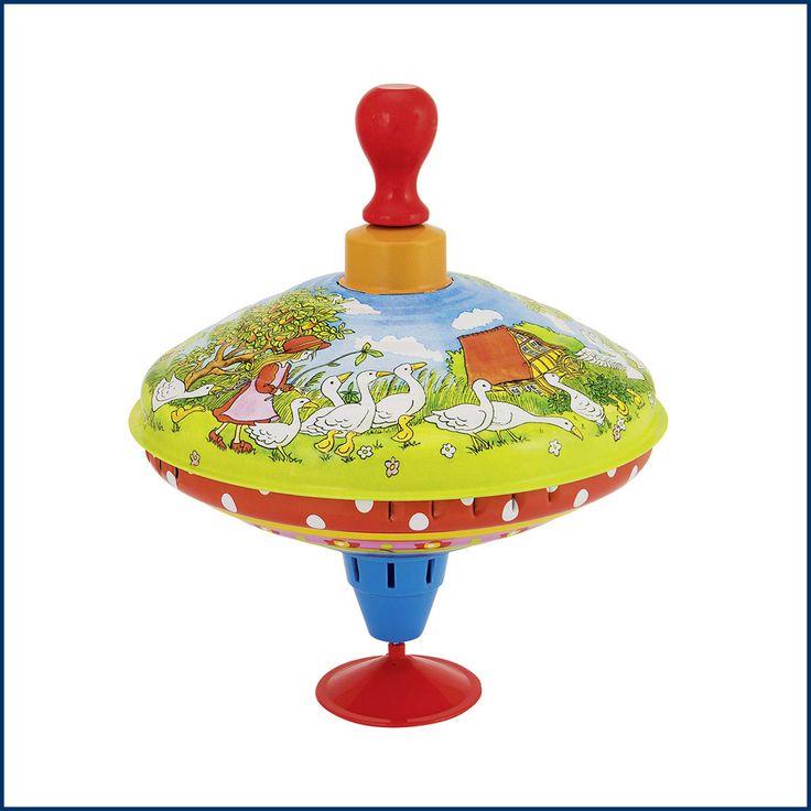 Darf es zu #Ostern eine kleine #Spielsache sein?? JAAAA, darf es. ZB unseren tollen klassischen #Brummkreisel aus #Metall mit #Holzgriff mit Gänseliesel Motiven. Erhältlich im #Feingefühl #Onlineshop: http://feingefühl-shop.de/kinder/spielsachen/718/brummkreisel-gaenseliesel?c=28