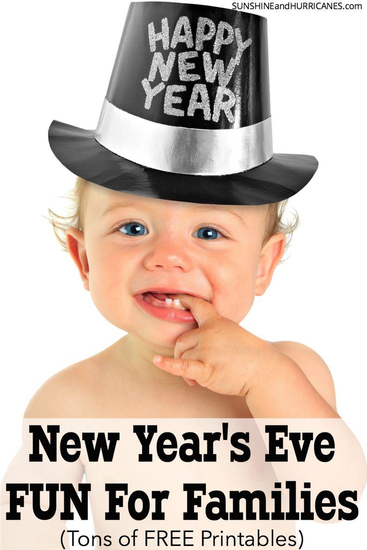 Looking for some family fun for New Year's? Make a party at home with all these free New Year's Printables. Games, party favors, goal planning, photo booth props and more to make ringing in the New Year a true celebration. New Year's Eve Printables from SunshineandHurricanes.com