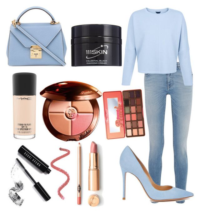 """Expensive Style"" by marie-lou-havet on Polyvore featuring Givenchy, Gianvito Rossi, Mark Cross, 111Skin, MAC Cosmetics, Guerlain, Too Faced Cosmetics and Bobbi Brown Cosmetics"