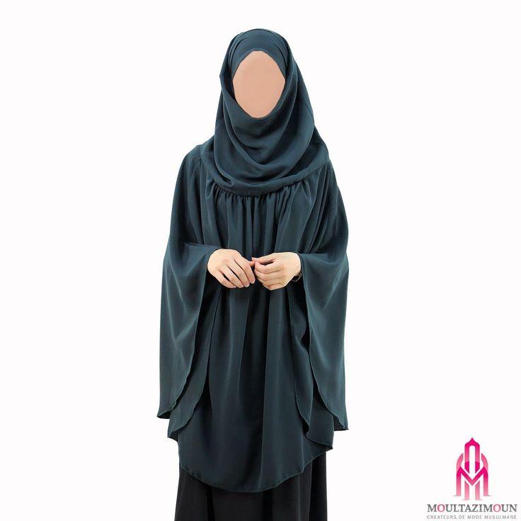 Khimar à fronces Fresh - Al Moultazimoun #Overhead #khimar #jilbab #cardigan #jilbab #best #abaya #modestfashion #modestwear #muslimwear #jilbabi #outfit #hijabi #hijabista #long #dress #mode #musulmane #clothing