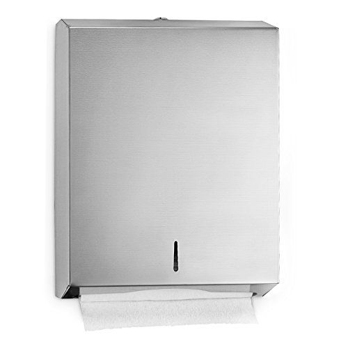 Alpine Industries C Fold Multifold Paper Towel Dispenser Brushed