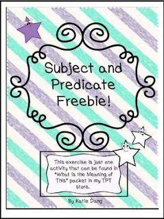 "FREE LANGUAGE ARTS LESSON - ""Subject and Predicate Freebie!"" - Go to The Best of Teacher Entrepreneurs for this and hundreds of free lessons. 3rd - 5th Grade    #FreeLesson    #LanguageArts   http://www.thebestofteacherentrepreneurs.com/2015/12/free-language-arts-lesson-subject-and.html"