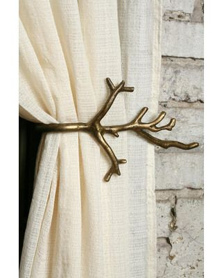 Bring a hint of nature to your home with this branch curtain tie-back! Get it here:http://www.bhg.com/shop/urban-outfitters-exclusives-branch-curtain-tie-back-p502249a282a797dc8953b6c9.html?mz=a