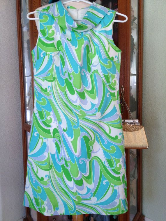 1960's New Old Stock Psychedelic Print Shift by WhimsicalPreppy