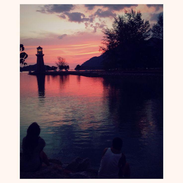 Sunset. Pulau Langkawi, Malaisie.