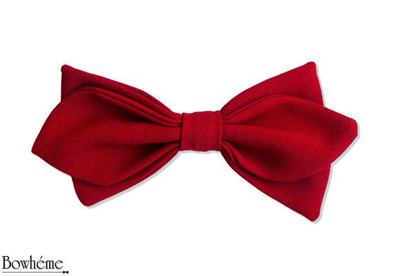 Pre Tied  Bow Tie Diamond Shaped  SANGRE RELOADED. by Bowheme, $15.00
