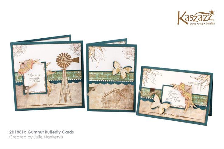 2H1881c Gumnut Butterfly Cards