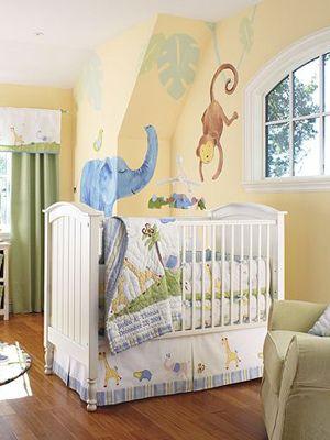 aww i love the monkey and elephant! i LOVE ELEPHANTS!!! Gender Neutral Nurseries - Nursery Ideas - SLideshow