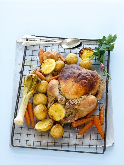 Salt-crusted chicken