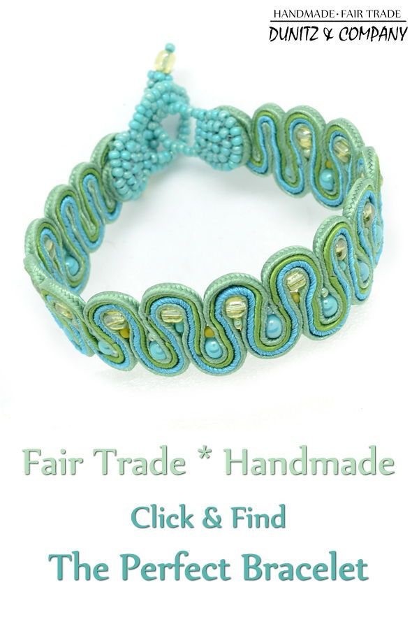 Mosaic Squiggle Bracelet | Seed Bead & Embroidered Jewelry