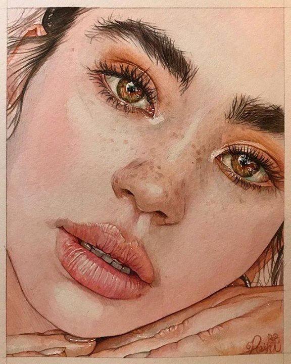𝒑𝒊𝒏𝒕𝒆𝒓𝒆𝒔𝒕 𝒔𝒍𝒆𝒆𝒑𝒚𝒊𝒅𝒍𝒆𝒔 Portrait Dessin