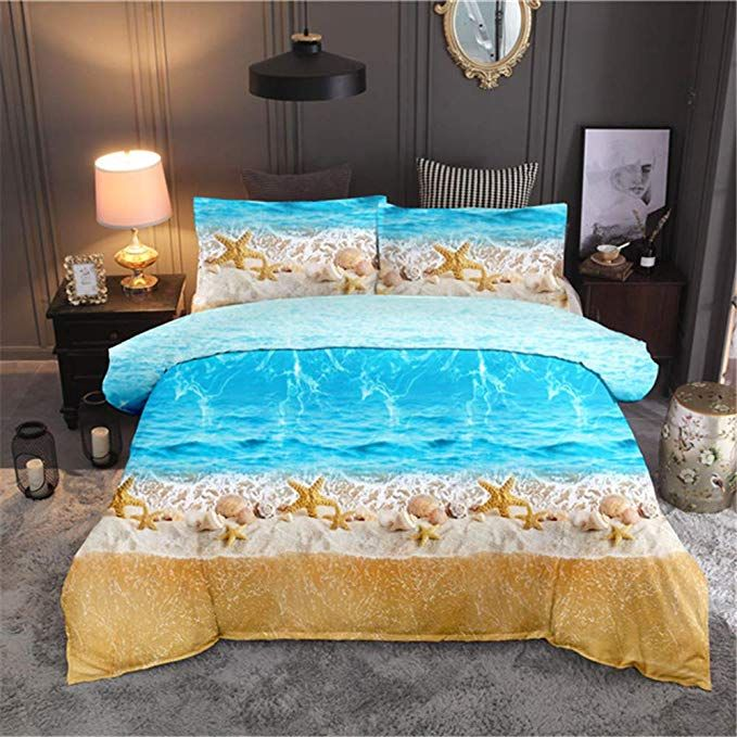Ntbed Tropical Wind 3d Ocean Beach Dolphin And Starfish Romantic