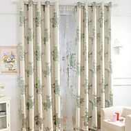 Two Panels Small Fresh Style Cotton Jacquard Ultra Thick Curtains The Living Room Bedroom Restaurant Children Room Curtains – USD $ 64.99