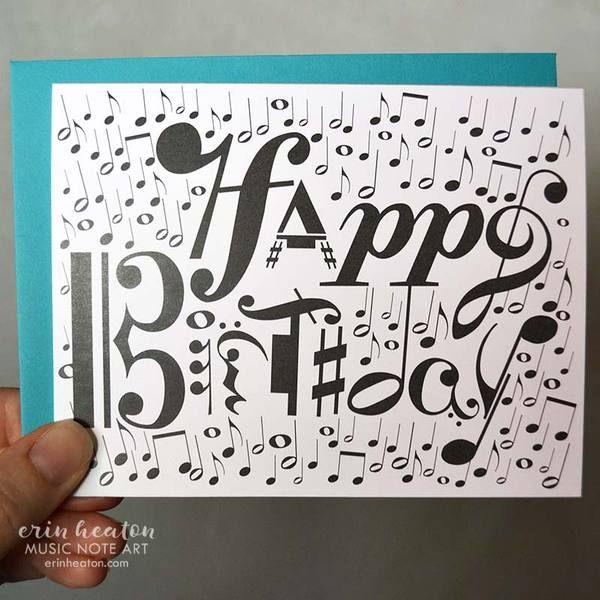 Happy Birthday Musical Notation Card Birthday Cards Happy Birthday Cards Music Birthday