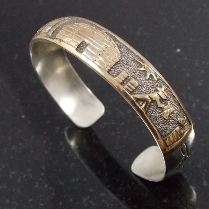 Classic Navajo Storyteller Cuff Bracelet Vintage Native American Jewelry Pinterest Bracelets Cuffs And Classic