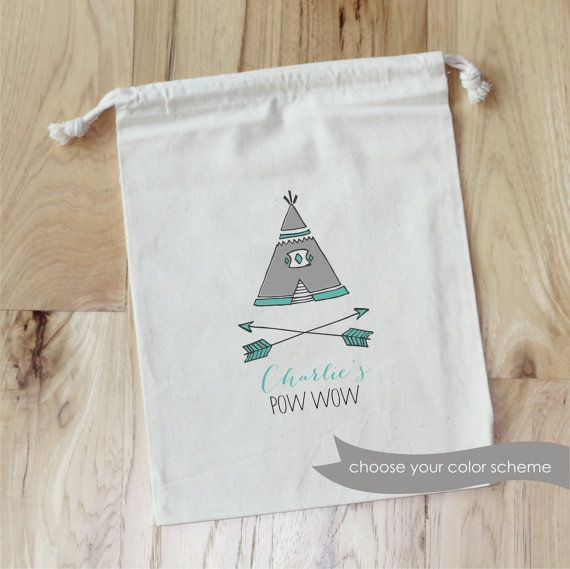Hand drawn by jcouch - teepee pow wow favor bags - fylm- https://www.etsy.com/listing/215347953/teepee-pow-wow-personalized-favor-bags