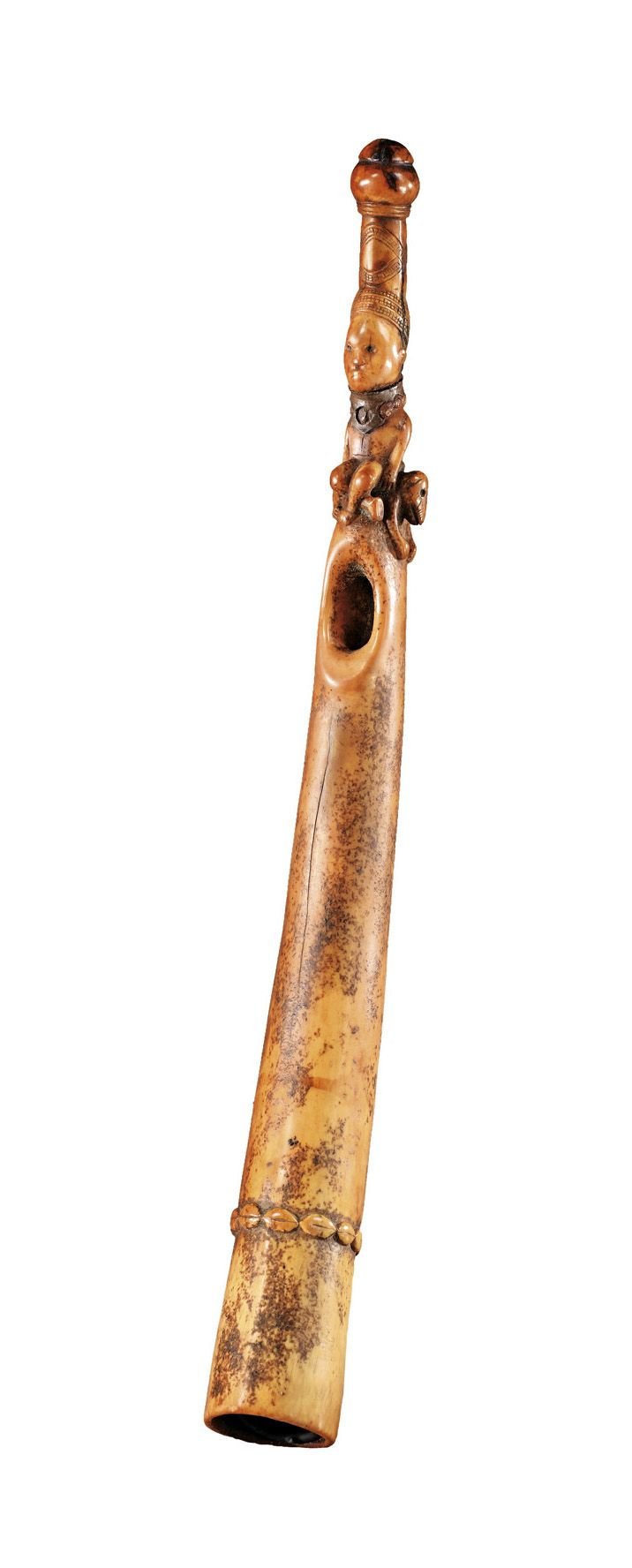 Africa | Trumpet from the Yombe people of DR Congo | Ivory