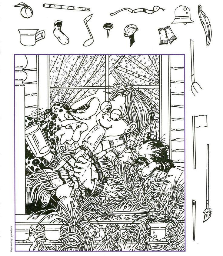 """retrouver des """"objets"""" cachés dans les illustrations"""