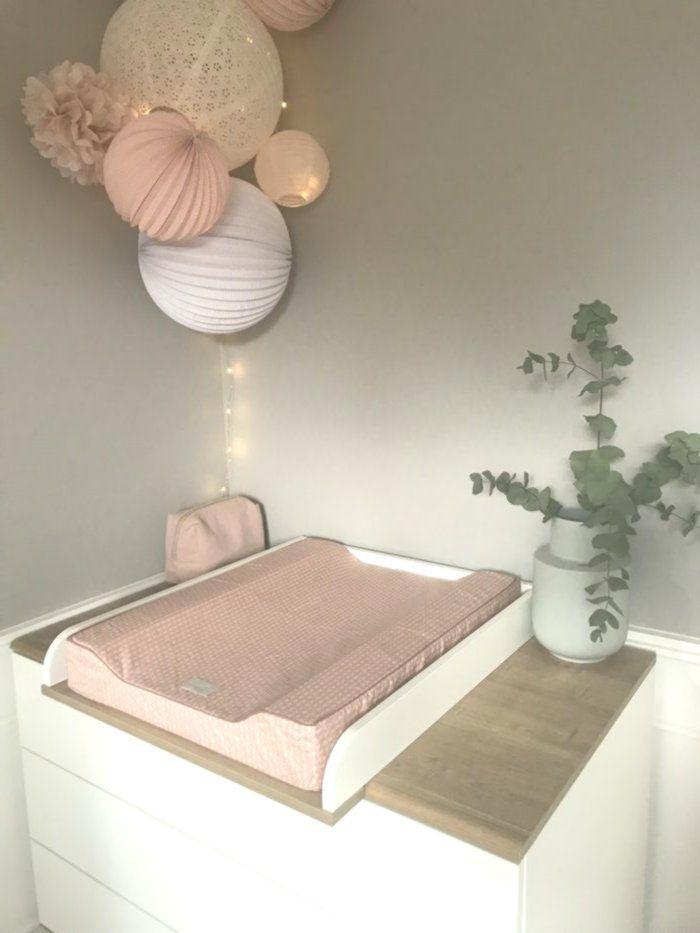 Pastellrosa Und Weisser Raum Rose Pastel Blanc Chambre Fille