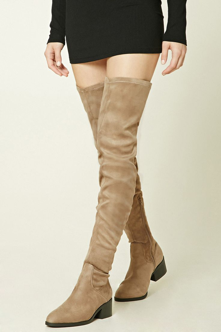 vegan thigh high boots that are not too high to walk in #vegan #vegetarian