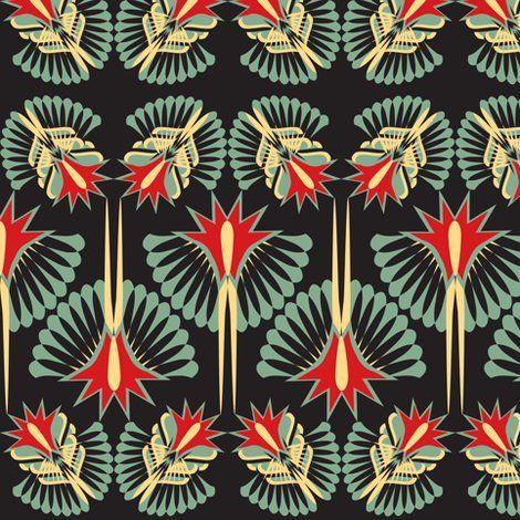 Rartdeco 4sf shop preview patterns pinterest prints for Fabric with art deco design