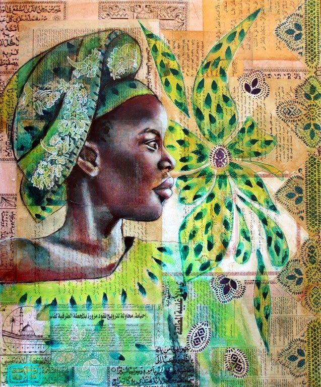 Farf'art - Portraits-Carnets de voyage: Marianne en vert, Mayotte