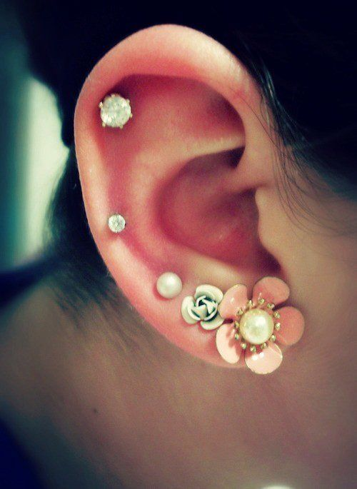 50 Unusually Cute Ear Piercings For Every Fashionista Even ...