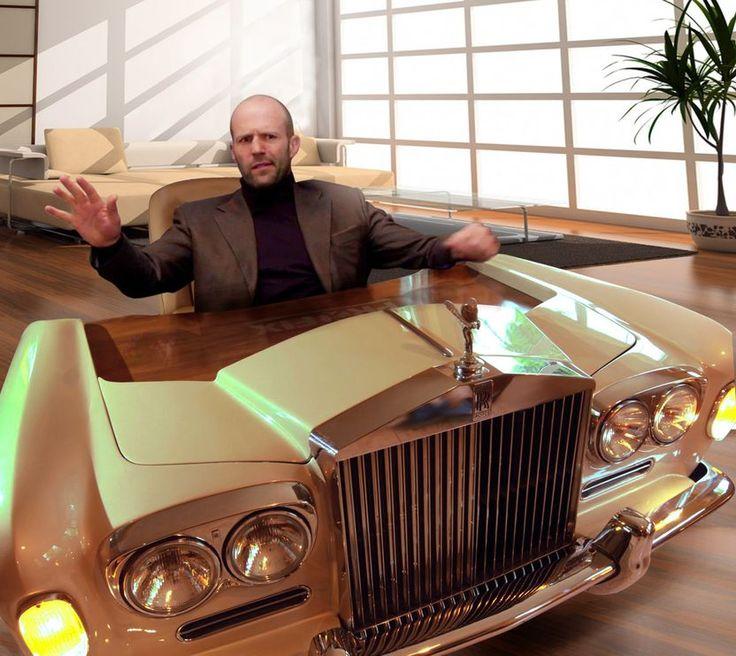 Prawdziwy gentelman w prawdziwym samochodzie ;) Jason Statham Rolls-Royce Motor Cars #jasonstatham #rollsRoyce