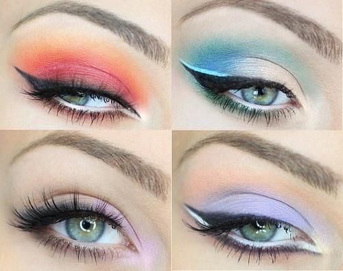 elemental eyeshadow, fire makeup, water makeup, air makeup, earth makeup