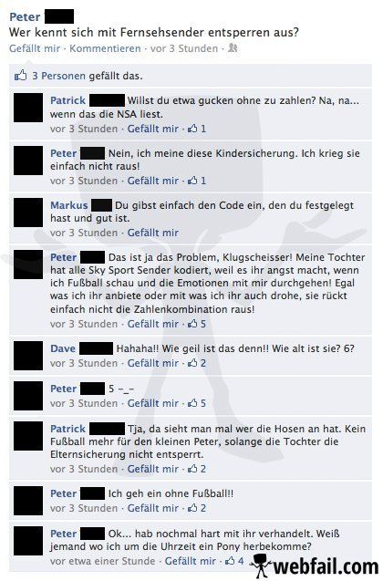 Die Elternsicherung - Facebook Fail des Tages 07.02.2014 | Webfail - Fail Bilder und Fail Videos