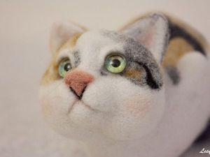 Валяем кошечку Лизу | Ярмарка Мастеров - ручная работа, handmade