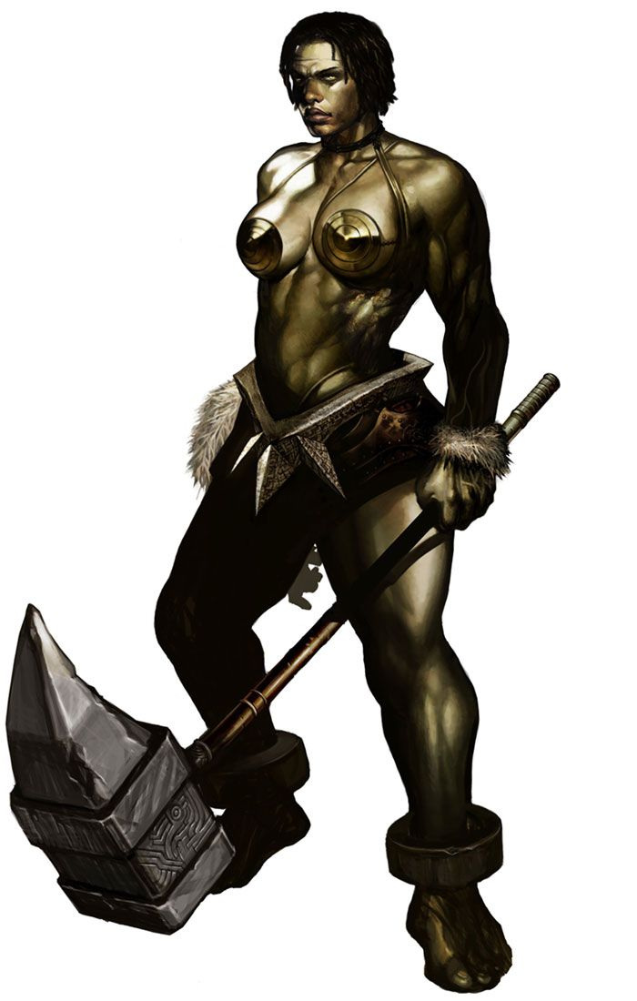 Half orc male naked good