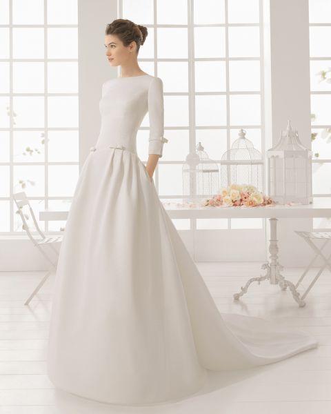 Minimalistische Hochzeitskleider 2016: Einfach und schick in's neue Hochzeitsjahr starten! Image: 29