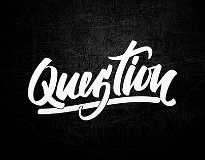 """Check out new work on my @Behance portfolio: """"Lettering question"""" http://be.net/gallery/44805829/Lettering-question"""