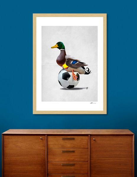 Discover «Fowl (Wordless)», Numbered Edition Fine Art Print by rob art | illustration - art | decor | wall art | inspiration | animals | home decor | idea | humor | gifts