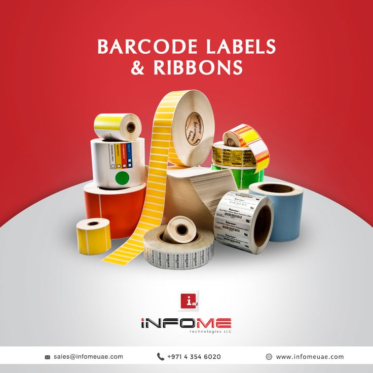 InfoME Presents Wide Variety of Barcode Labels, Ribbons  http://infomeuae.com/…/point-of-sa…/barcodes-labels-ribbons/  For Sales Enquiry, Call +97143546020 Mail us at, sales@infomeuae.com  #infome #infomeuae #barcodeLabels #ribbons