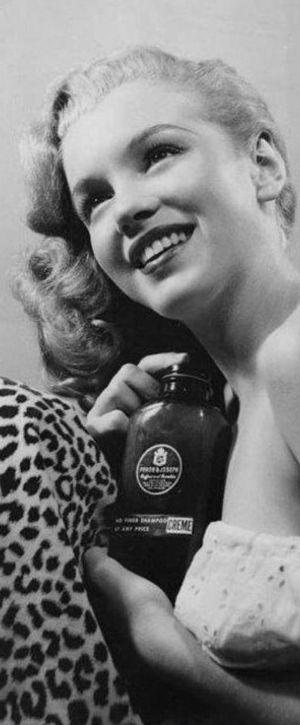 1945: Marilyn Monroe – Norma Jeane – early shampoo advertising