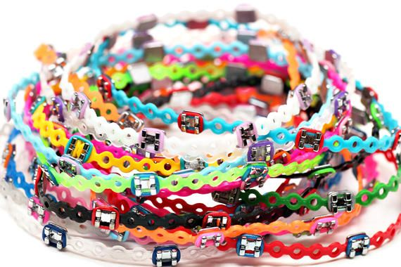 It's braces turned into bracelets!  We can make these for you when you finish your orthodontic treatment - a GREAT way to reuse what we normally throw away.