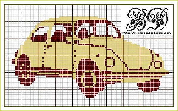 .VW bug free xstitch: Point, Charts, Vw Bugs, Crossstitch, Cross Stitch, Crosses Stitches, Cross