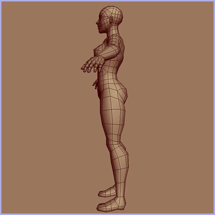 Низкополигональная Сетка Базовый Женский