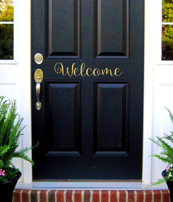 Welcome Door Decal Welcome Sign Vinyl Lettering Welcome